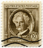 USA - 1940: shows Samuel Langhorne Clemens  Mark Twain (1835-1910), Famous Americans Authors Royalty Free Stock Images