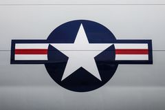 USA siły powietrzne USAF logo na samolocie obrazy stock