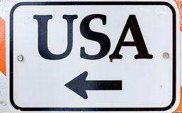USA sign Stock Image