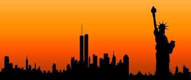 USA-silhouette Royaltyfri Foto