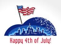 USA självständighetsdagen Arkivbilder