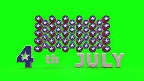 USA självständighetsdagen med chromatangentbakgrund stock video