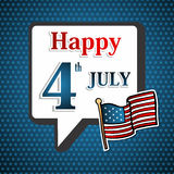 USA självständighetsdagenbakgrund Royaltyfria Bilder
