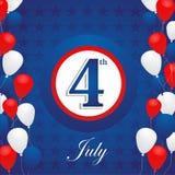 USA självständighetsdagenbakgrund Arkivfoton