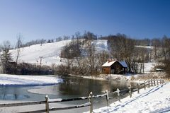 USA-Skiort Lizenzfreies Stockbild