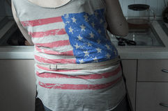 USA-skjorta Arkivbild