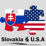 USA and Slovakia flags in puzzle Royalty Free Stock Photography