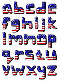 Usa small alphabet Royalty Free Stock Photo
