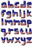 Usa small alphabet Royalty Free Stock Photo