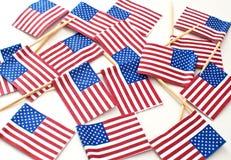 USA small flags Royalty Free Stock Photos