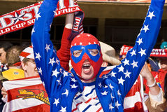 USA Soccer Fan in Luchador Mask - FIFA WC Stock Photos