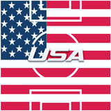 USA Soccer field image. Stock Images