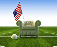 USA soccer fun Royalty Free Stock Photo