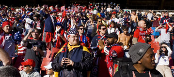 USA Soccer Supporters at Ellis Park - FIFA WC. USA fans all dressed up in fancy dress costume to show support for their team at the 2010 FIFA soccer world cup Stock Photo