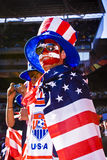 USA Soccer Supporters - FIFA WC. USA fans all dressed up in fancy dress costume to show support for their team at the 2010 FIFA soccer world cup Stock Photos