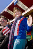 USA Soccer Supporters - FIFA WC. USA fans all dressed up in fancy dress costume to show support for their team at the 2010 FIFA soccer world cup Royalty Free Stock Photos