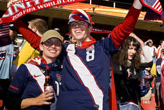 USA Soccer Supporters - FIFA WC royalty free stock image