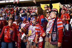 USA Soccer Supporters - FIFA WC Stock Photos