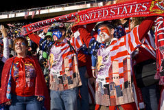 USA Soccer Supporters - FIFA WC. USA fans all dressed up in fancy dress costume to show support for their team at the 2010 FIFA soccer world cup Royalty Free Stock Images