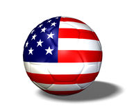 USA Soccerball. Image of a soccer ball with the flag from the United States of America Stock Photography