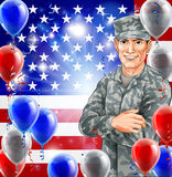 USA Soldier Illustration Royalty Free Stock Photo