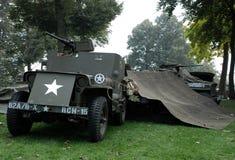 Usa soldiers Nijmegen brige Royalty Free Stock Photos