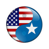 USA and Somalia working together Royalty Free Stock Photo