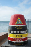 USA Southernmost Point Monument and Key West Tourist Attraction Stock Photos