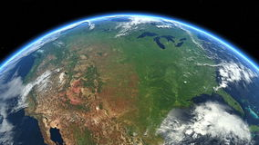 USA from space. Earth From Space. North America, US. USA from space. Clip contains earth, usa, us, space, map, globe, satellite, planet, United States, North stock footage