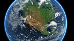 USA from space. Earth Zoom. North America, US. stock video footage