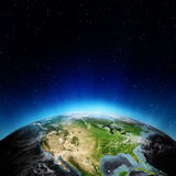USA from space. Elements of this image furnished by NASA Stock Image