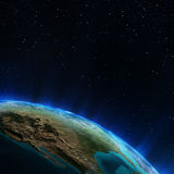 USA from space Royalty Free Stock Images