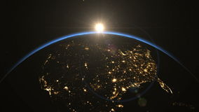 USA from space. Heroic Sunrise. Earth From Space.