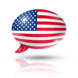USA speech bubble Stock Images