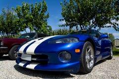 Usa sportive vehicle. On the gravel Stock Photo