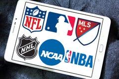 USA-sportlogoer och symboler Royaltyfria Bilder