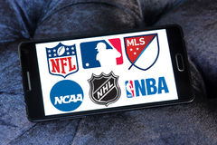 USA-Sportlogos und -ikonen Lizenzfreie Stockfotografie