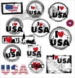USA-stämpel Royaltyfri Bild