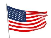 USA-Staatsflagge Stockfoto