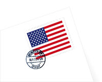 USA stamp illustration. USA stamp Letter illustration vector Royalty Free Stock Image