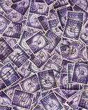 Usa stamps background Royalty Free Stock Photo