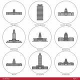 USA stany - symbolizujący stanów Capitols Part2 Obraz Stock
