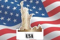 USA, Stany Zjednoczone Ameryka, ilustracja Obraz Royalty Free