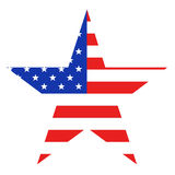 USA Star. Isolated in white Stock Images