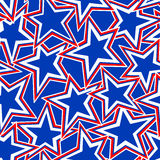 USA Star abstract illustration in a seamless pattern Royalty Free Stock Photos