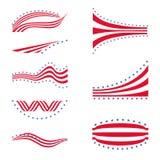 USA star flag logo stripes design elements Royalty Free Stock Images