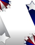 USA star frame. Red white and blue stars boarder over a gradient background. vector file also available Stock Photo
