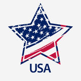 USA Star, Grunge american flag, vector Royalty Free Stock Images