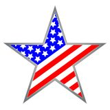 USA star icon symbol royalty free stock photo