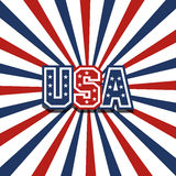 USA sunburst Stock Images